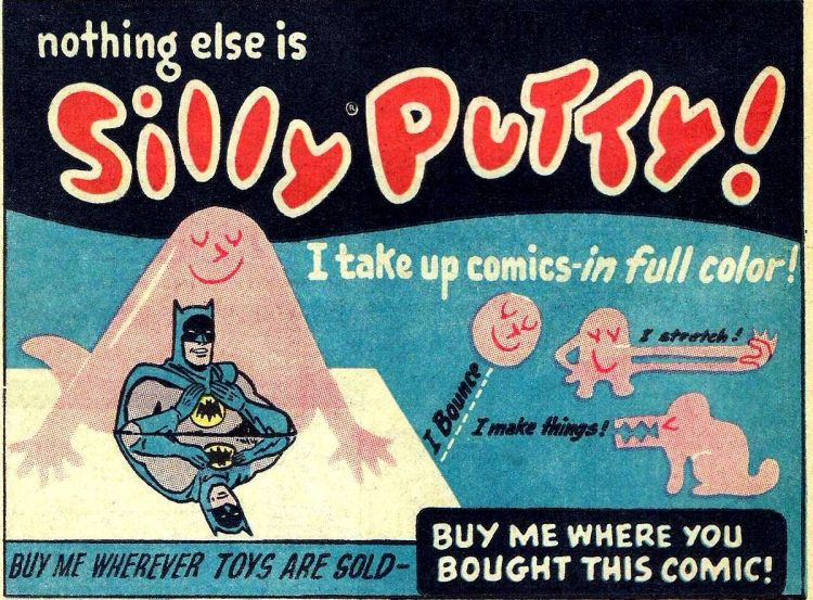 Vintage Silly Putty ad