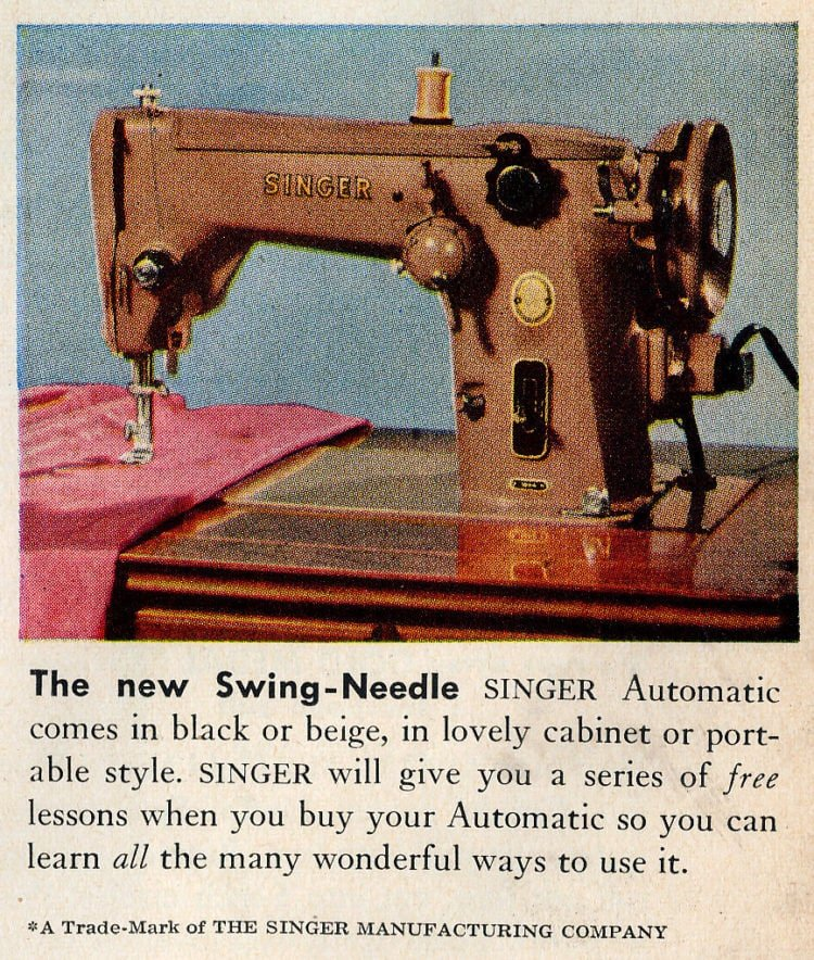 Vintage Singer sewing machine - Swing-Needle automatic - 1956
