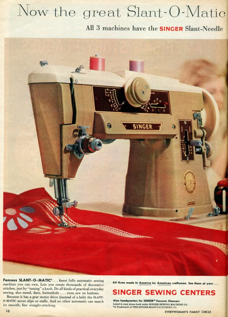 Vintage Singer sewing machines from 1959 (2)