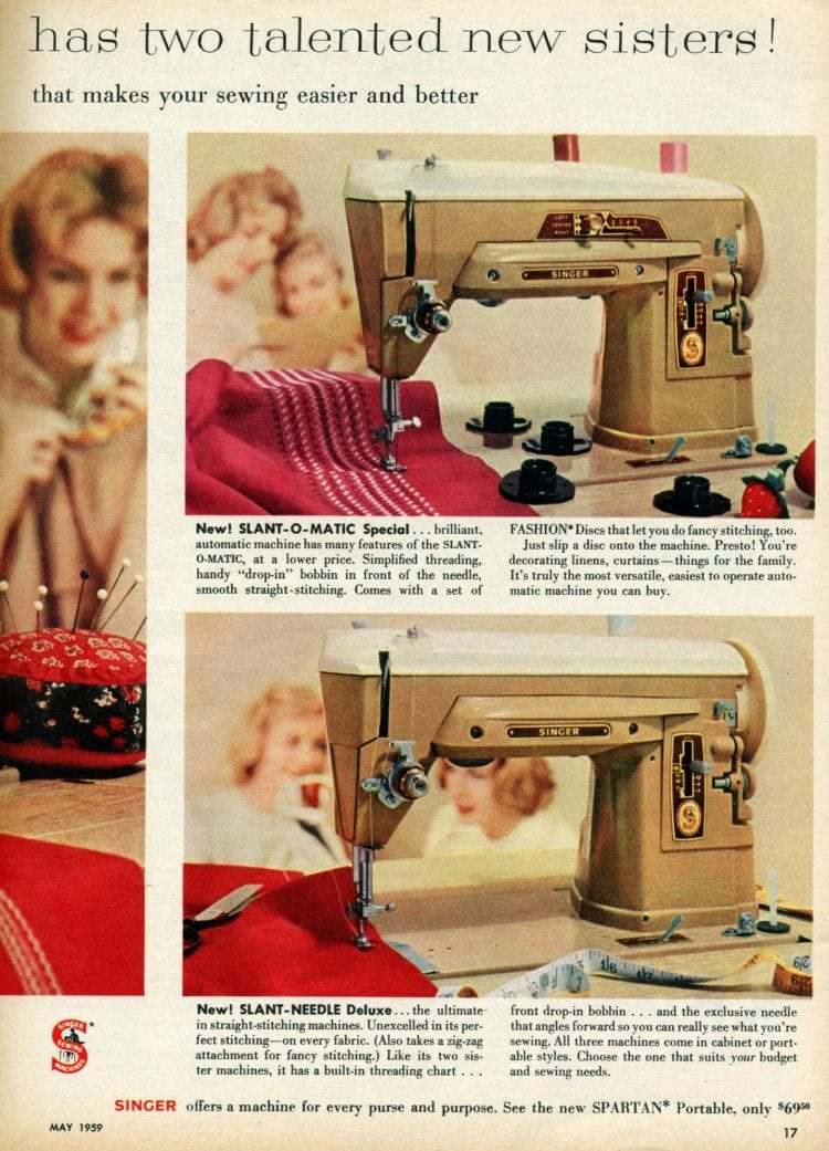 Vintage Singer sewing machines from 1959 (3)