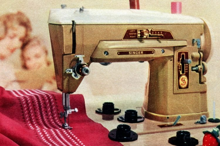 Vintage Singer sewing machine from 1959 - Slant-o-Matic