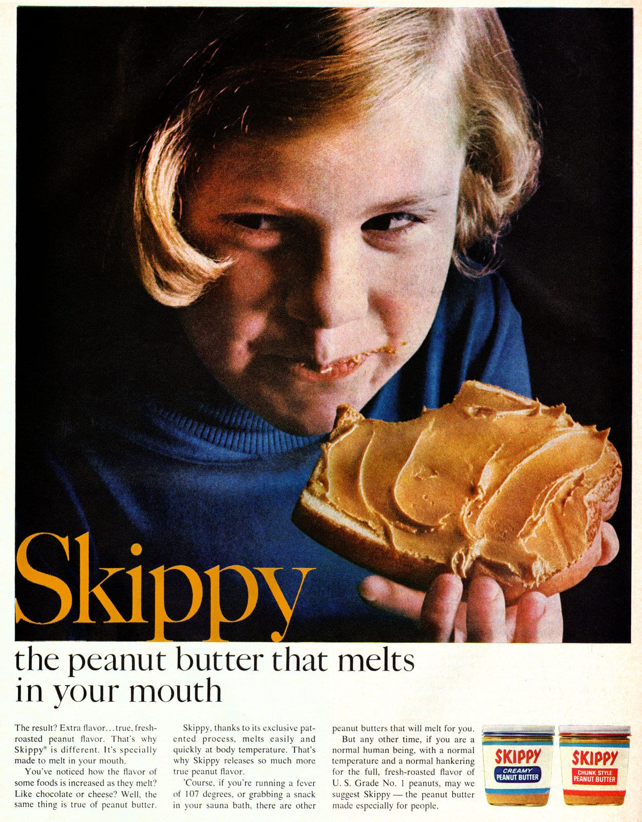 Vintage Skippy Peanut Butter ad (1966)