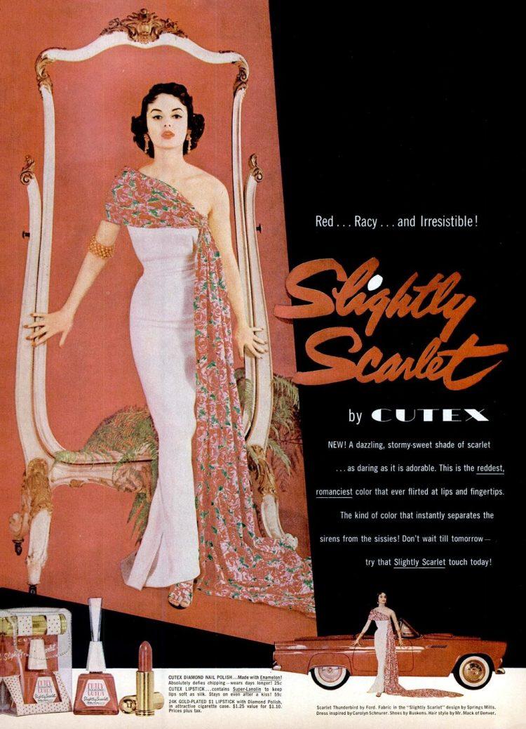 Vintage Slightly Scarlet nail polish beauty from 1959