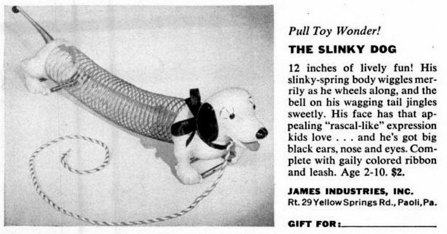 Vintage Slinky Dog Toys (1955)