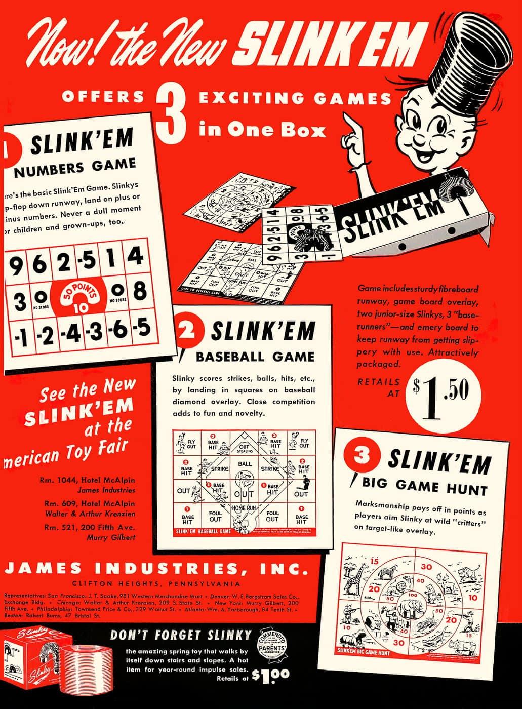 Vintage Slinky Slink'Em game