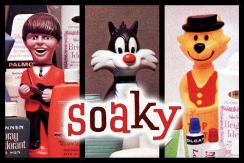 Vintage Soaky bubble bath toys