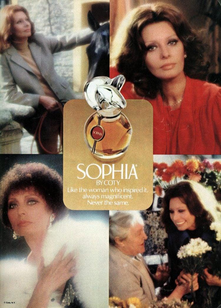 Vintage Sophia perfume by Coty - Sophia Lauren - 1982