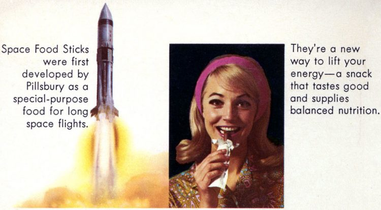 Vintage Space Food Sticks from the 60s and 70s