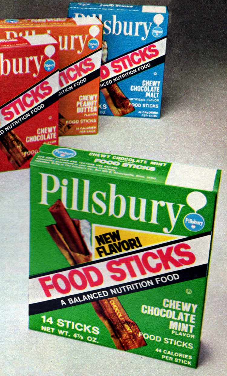 Vintage Space Food Sticks product boxes from 1972 (1)