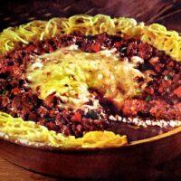 Vintage Spaghetti pie recipe - 1970s (1)