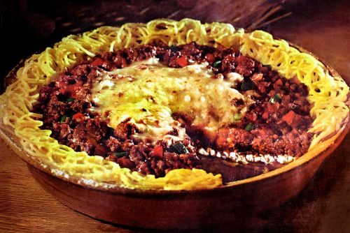 Vintage Spaghetti pie recipe - 1970s (1)