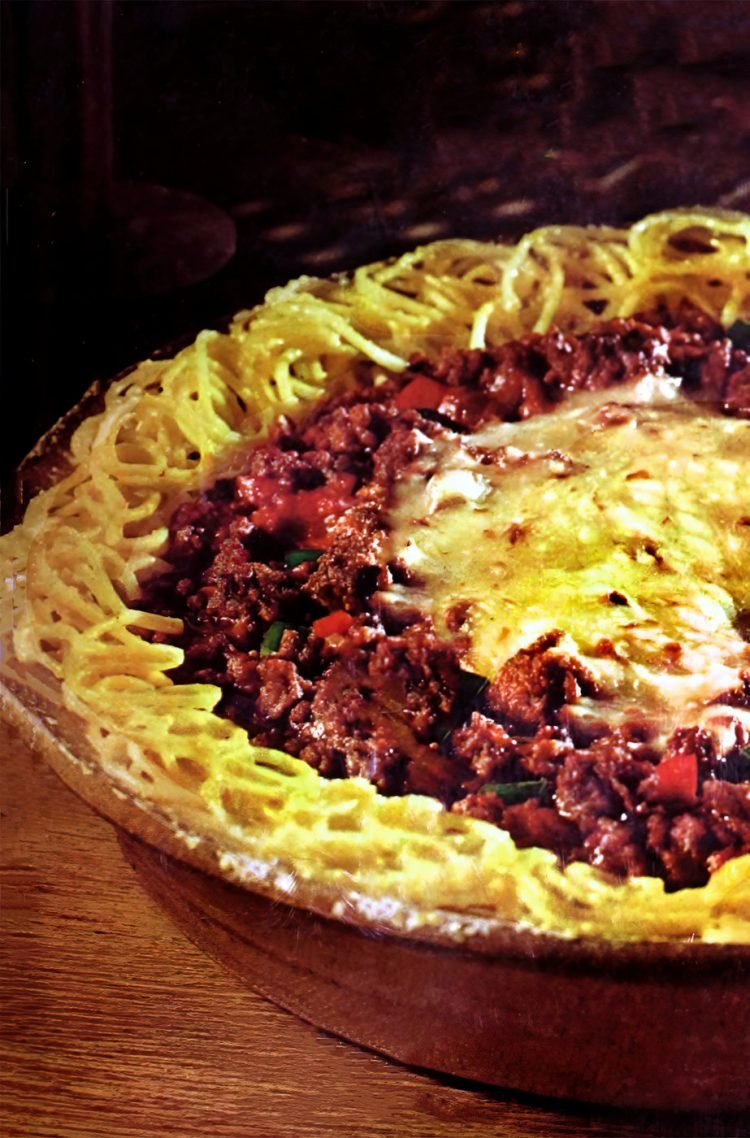 Vintage Spaghetti pie recipe - 1970s (2)