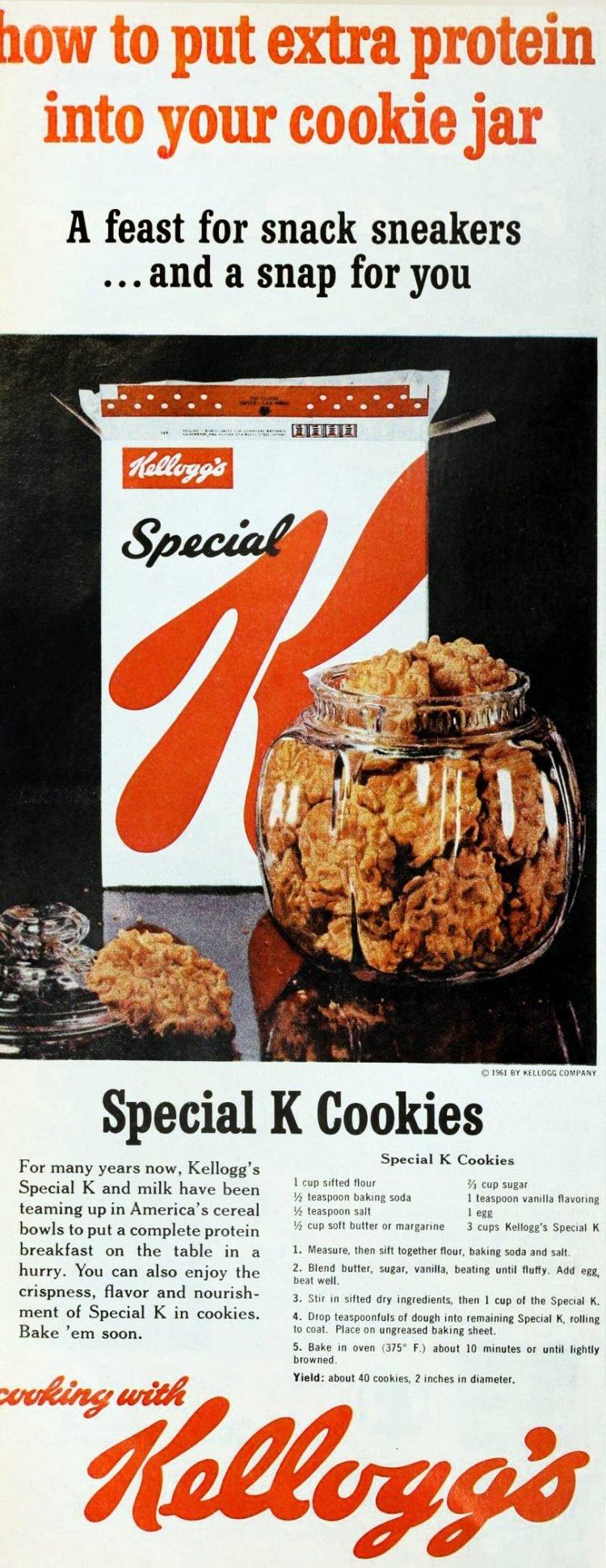 Vintage Special K cookies recipe (1961)