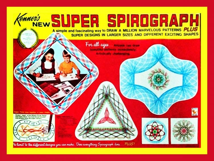 Vintage Spirograph box cover from 1969