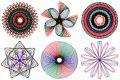 Vintage Spirograph designs