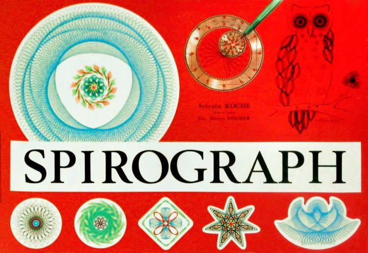 Vintage Spirograph toy box cover
