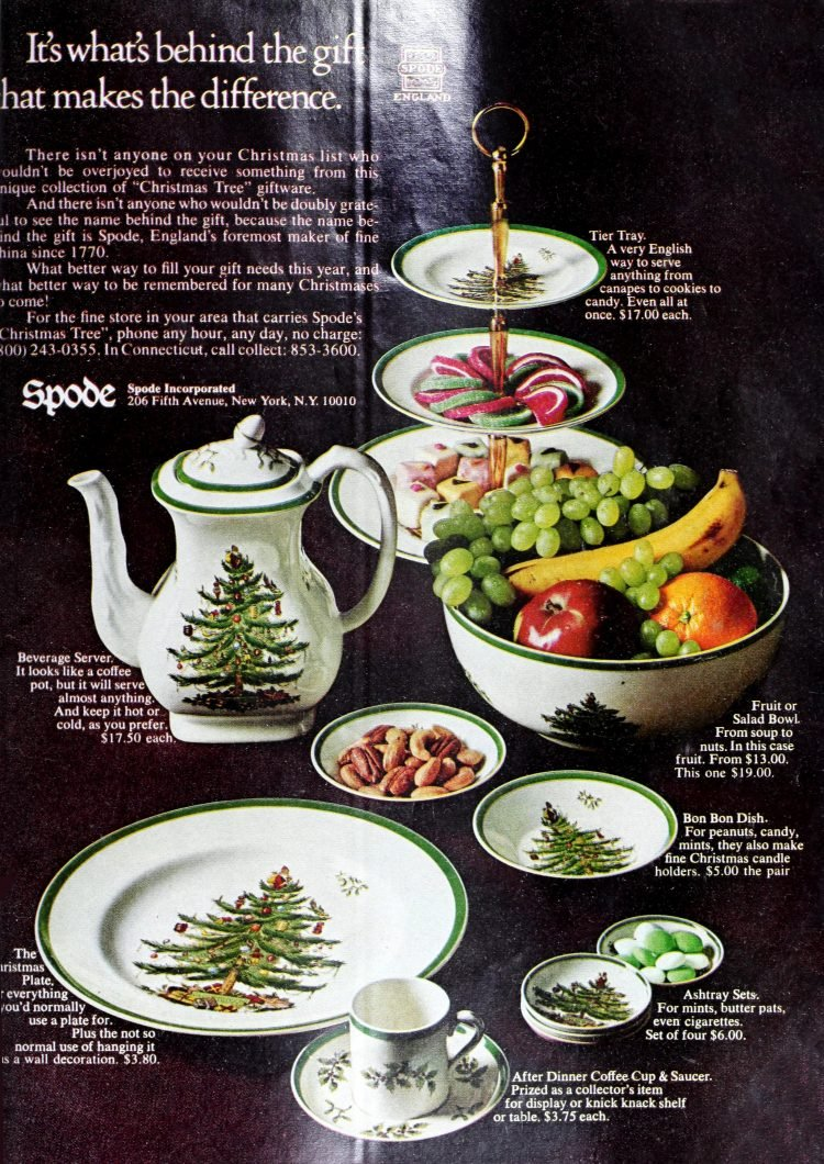 Vintage Spode Christmas china from 1968