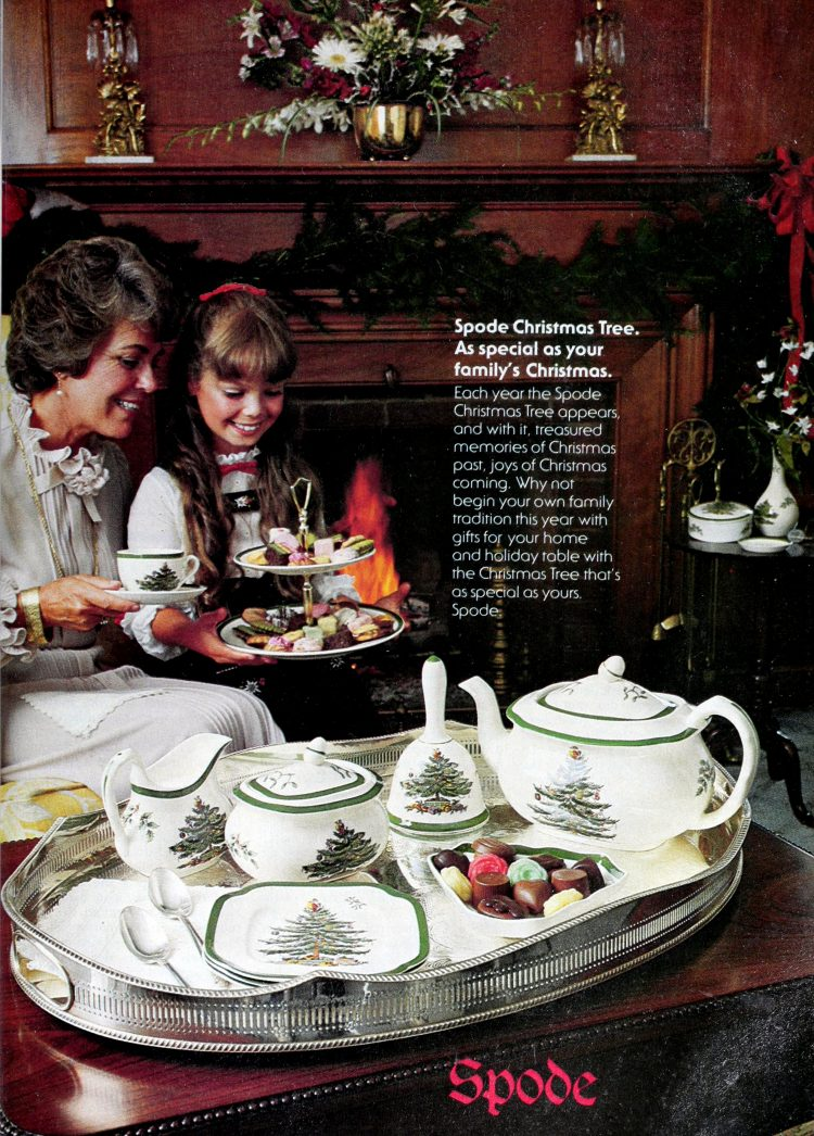 Vintage Spode Christmas china from 1981