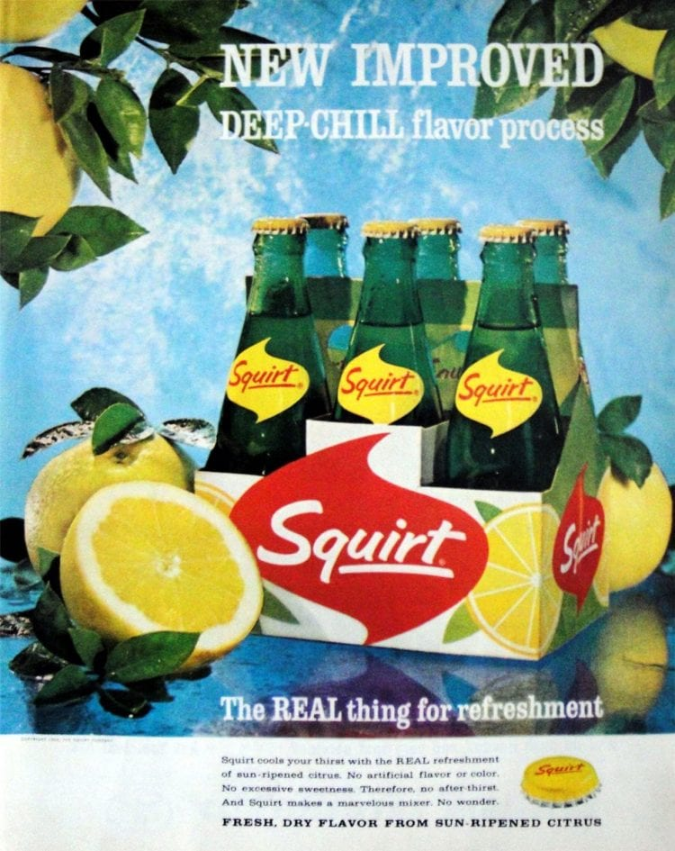 Vintage Squirt soft drink - 1964