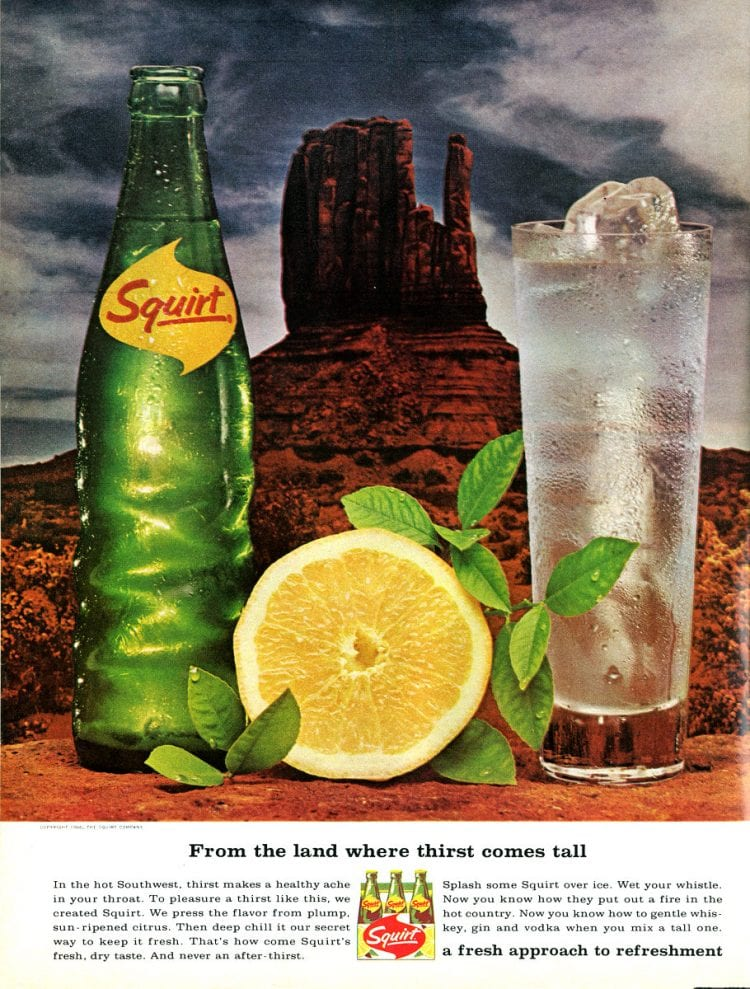 Vintage Squirt soft drink 1966