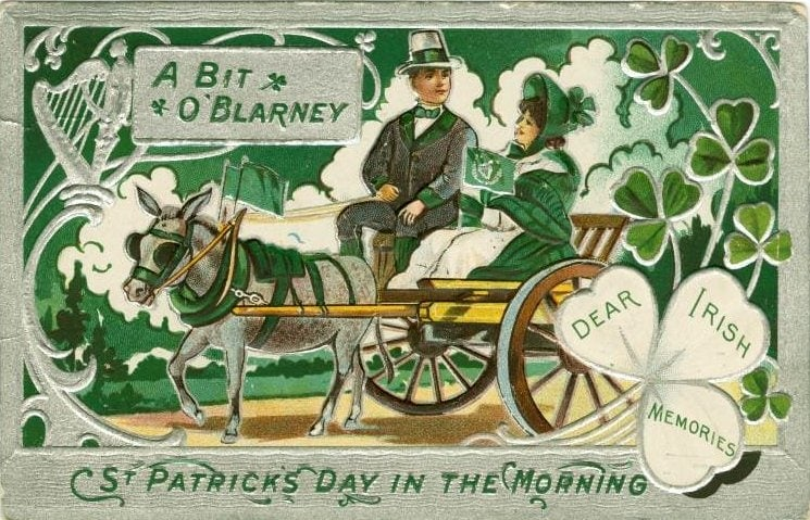 Vintage St Patrick's Day postcard - Dear Irish Memories