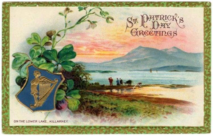 Vintage St Patrick's Day postcard - Greetings