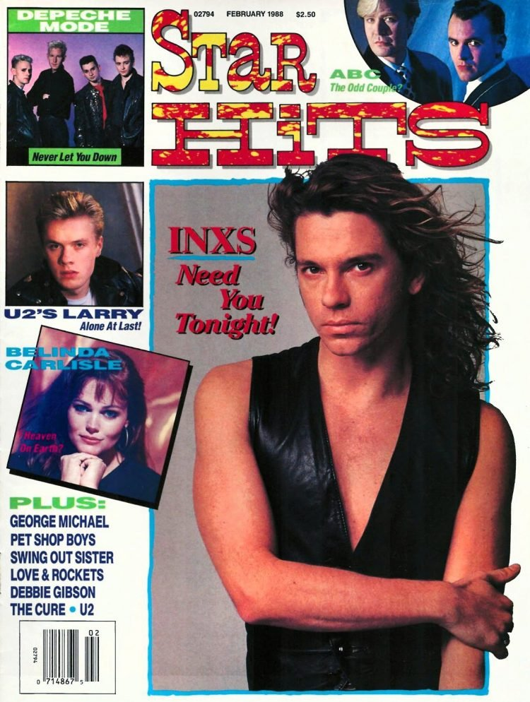 Vintage Star Hits magazine - Michael Hutchence of INXS 1988