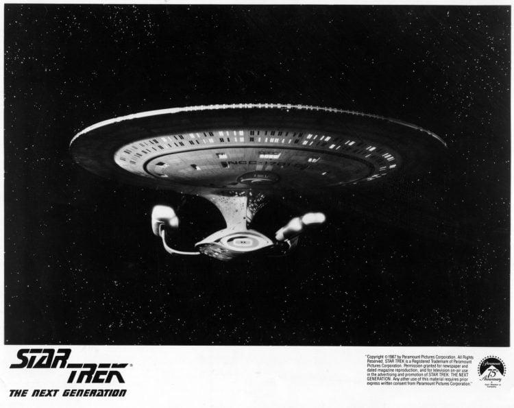 Vintage Star Trek The Next Generation publicity still - The Enterprise