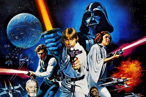 Vintage Star Wars movie poster from 1977