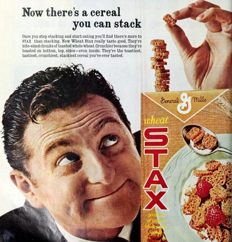 Vintage Stax Cereal ad 1966
