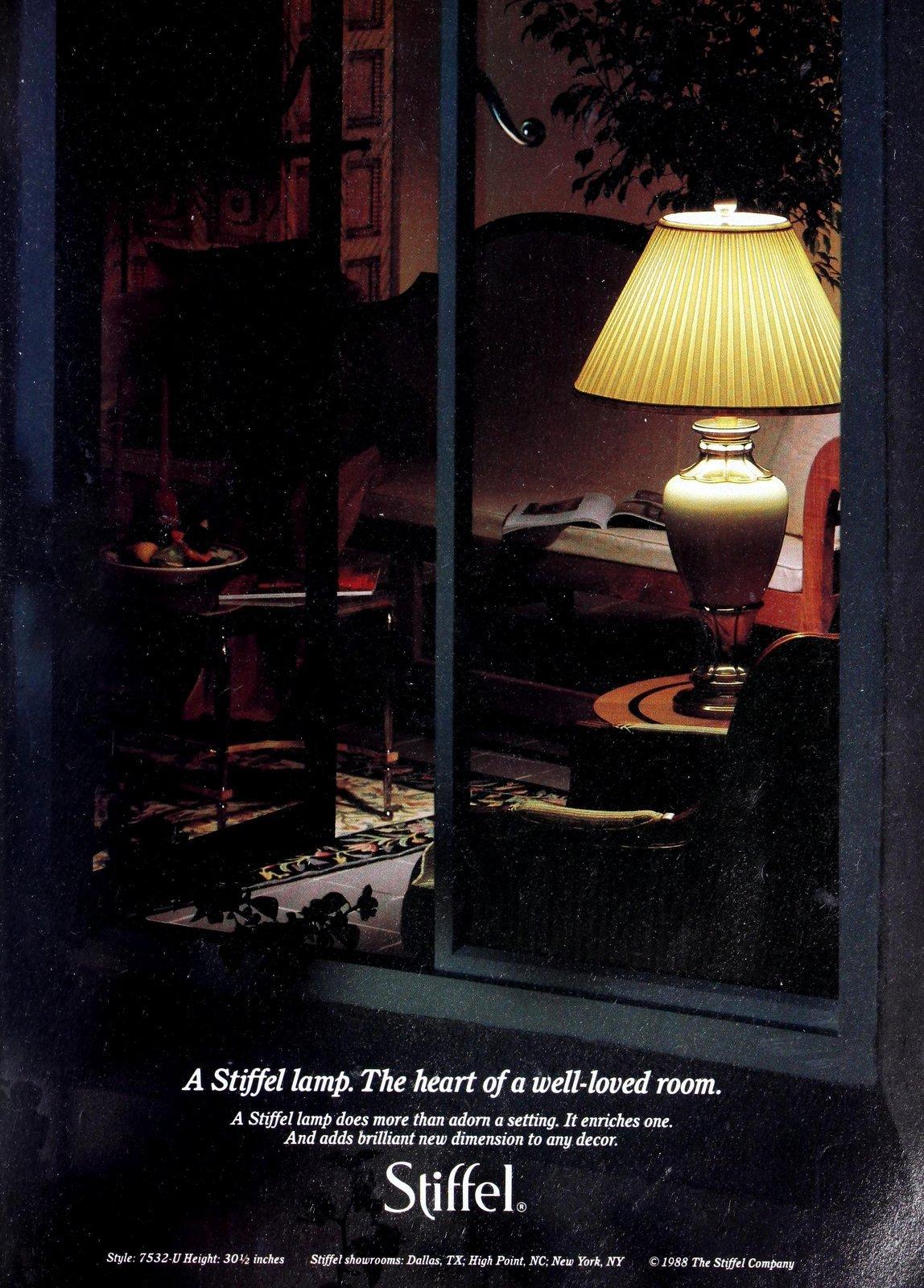 Vintage Stiffel large ceramic table lamp (1989)