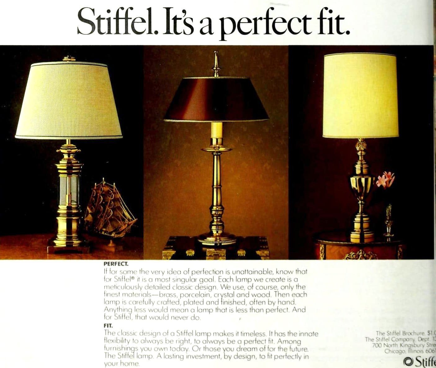 Vintage Stiffel living room table lamps made of brass (1980)