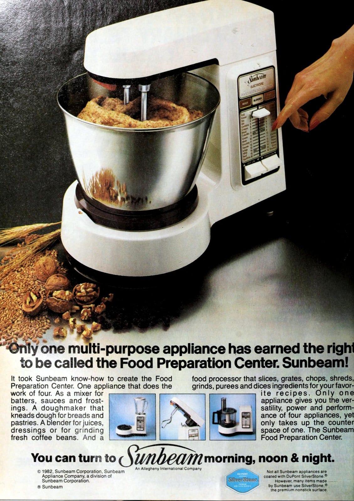 Vintage Sunbeam Food Preparation Center stand mixer (1982)