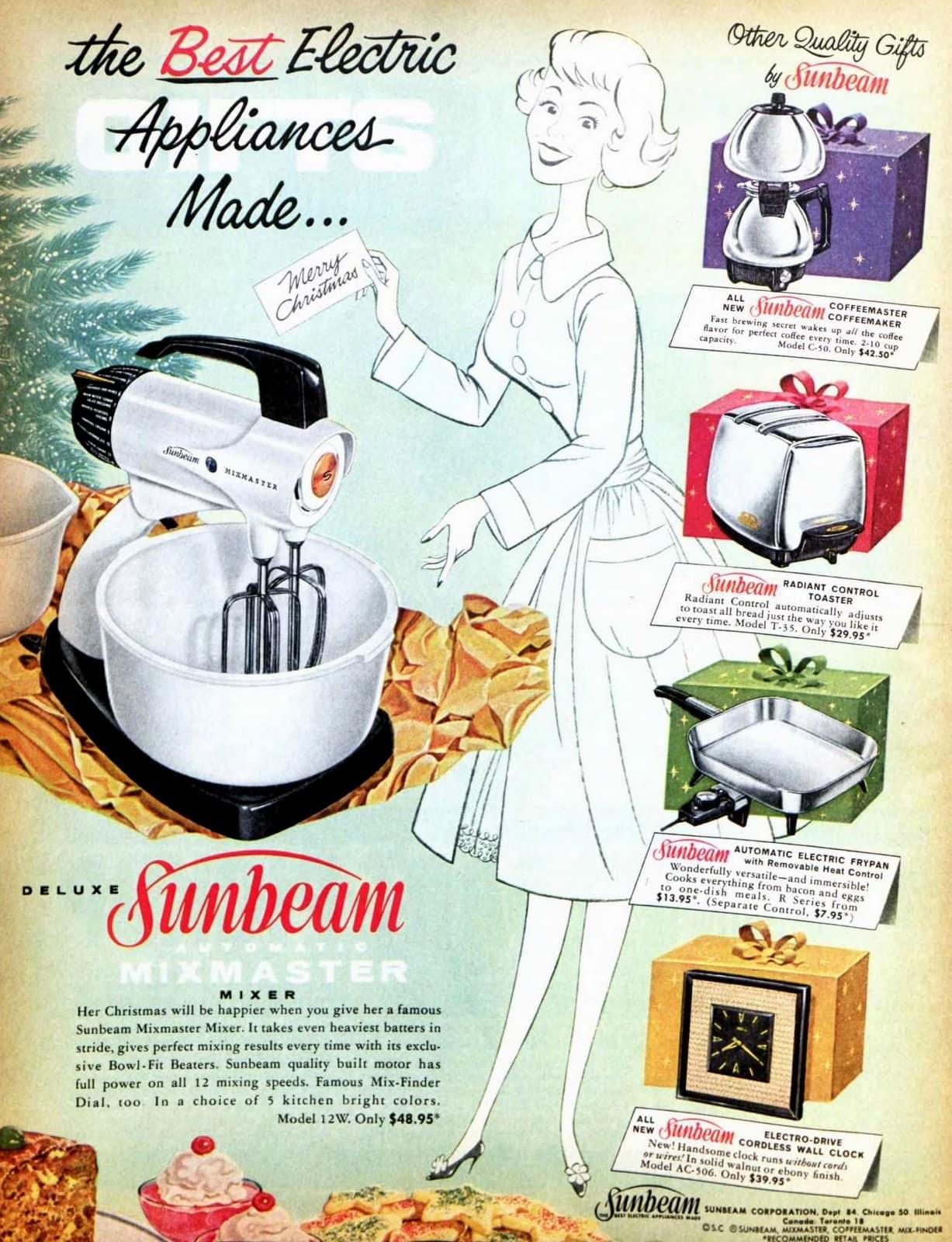 Vintage Sunbeam Mixmaster stand mixer (1960)