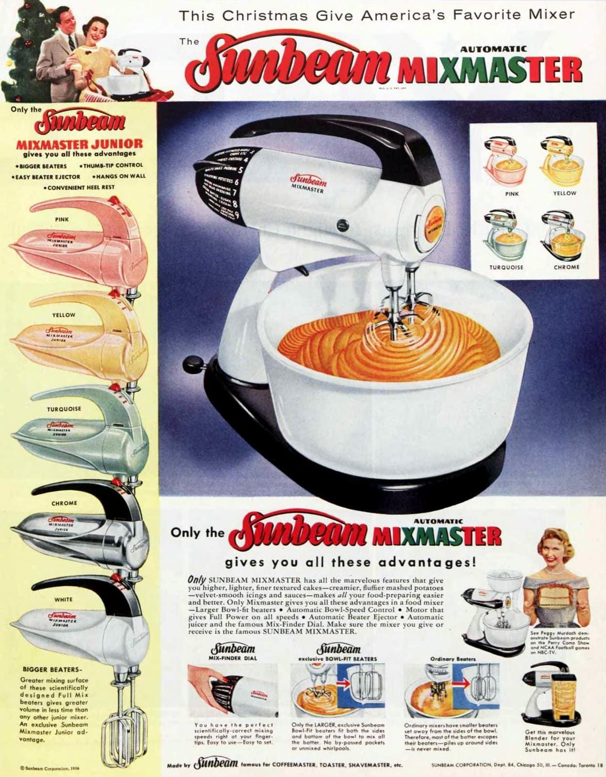 Vintage Sunbeam Mixmaster table mixer (1956)