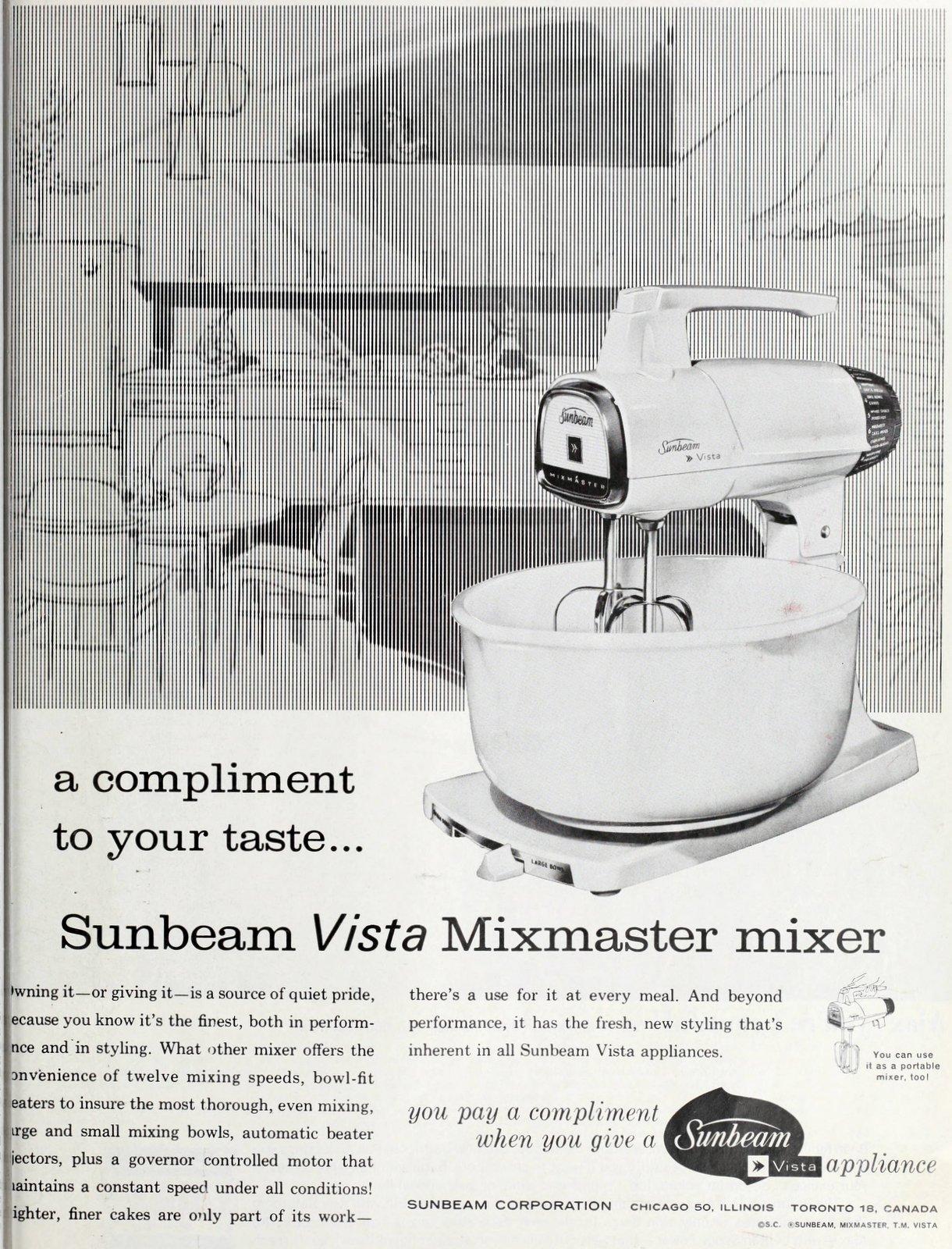 Vintage Sunbeam Vista Mixmaster mixer (1963)