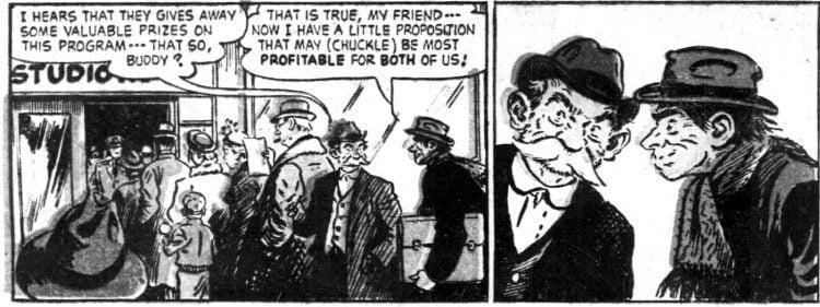 Vintage Sunday comic funnies Abbie an' Slats 1952 (1)