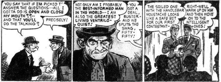Vintage Sunday comic funnies Abbie an' Slats 1952 (2)