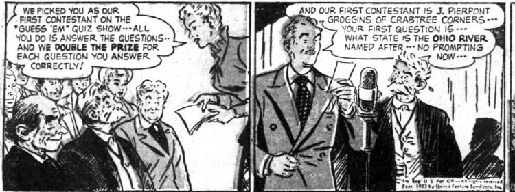 Vintage Sunday comic funnies Abbie an' Slats 1952 (3)