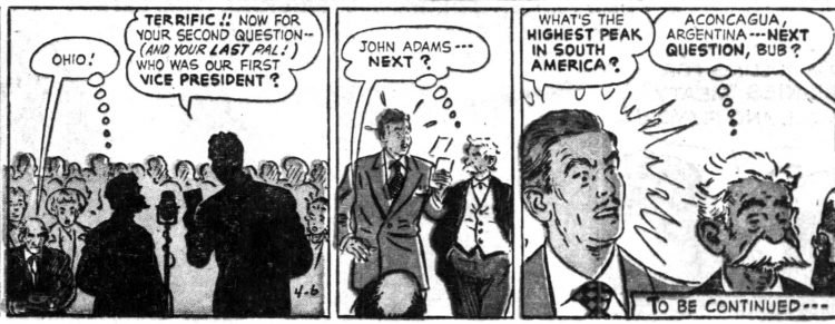 Vintage Sunday comic funnies Abbie an' Slats 1952 (4)