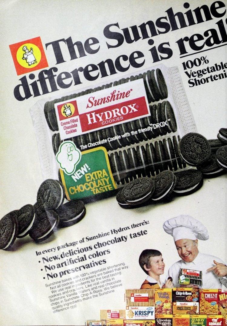 Vintage Sunshine Hydrox cookies (1978)