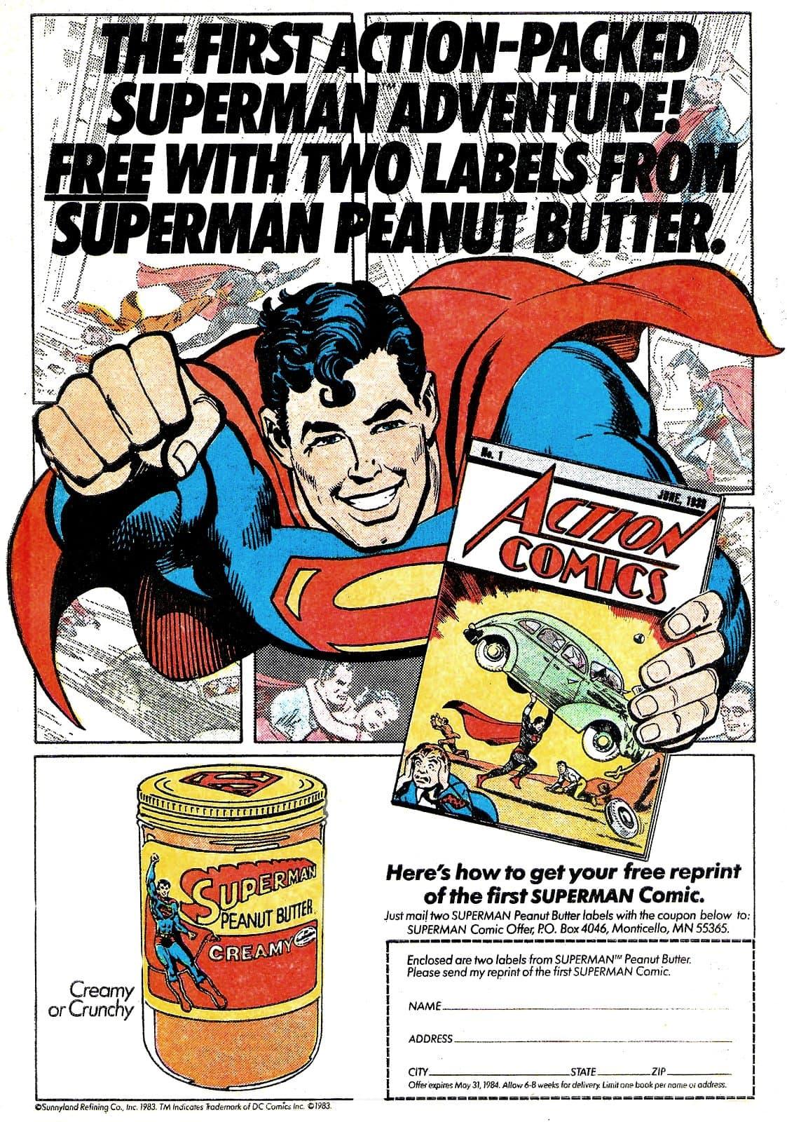 Vintage Superman Peanut Butter (1983)