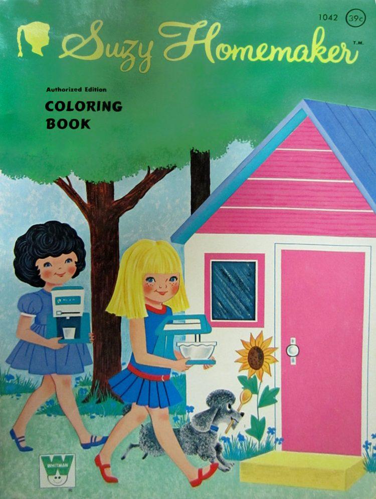 Vintage Suzy Homemaker coloring book