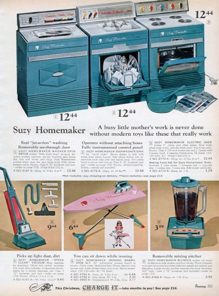 Vintage Suzy Homemaker toys in the Penneys catalog