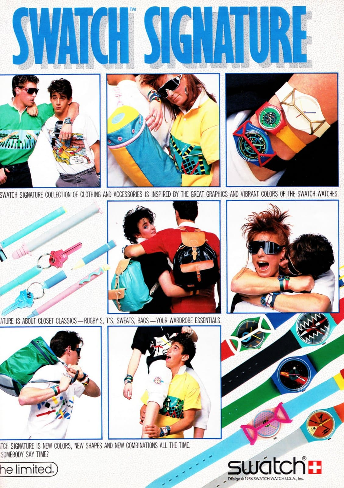 Vintage Swatch designs from 1986