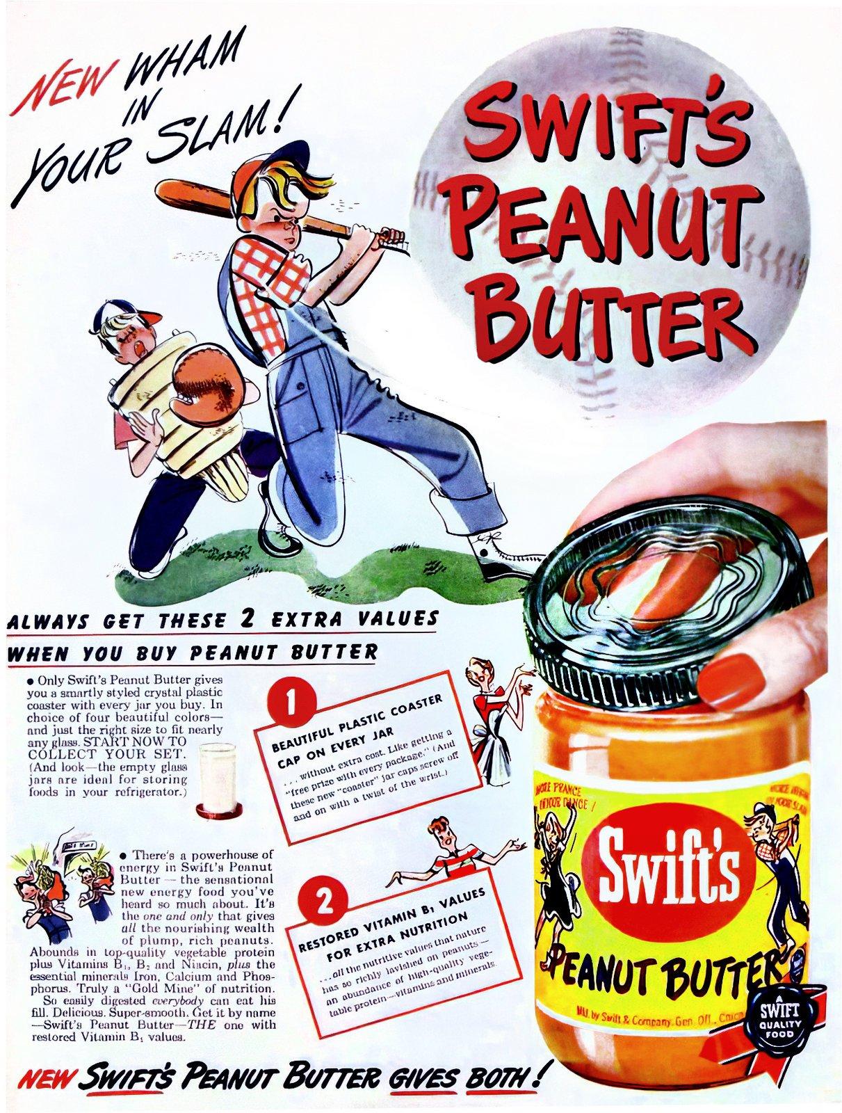 Vintage Swift's Peanut Butter (1950s)