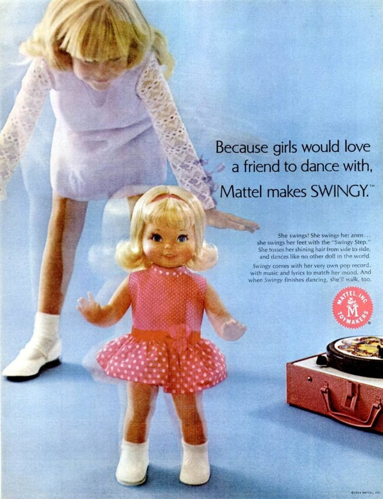 Vintage Swingy doll from 1969 - Mattel toys