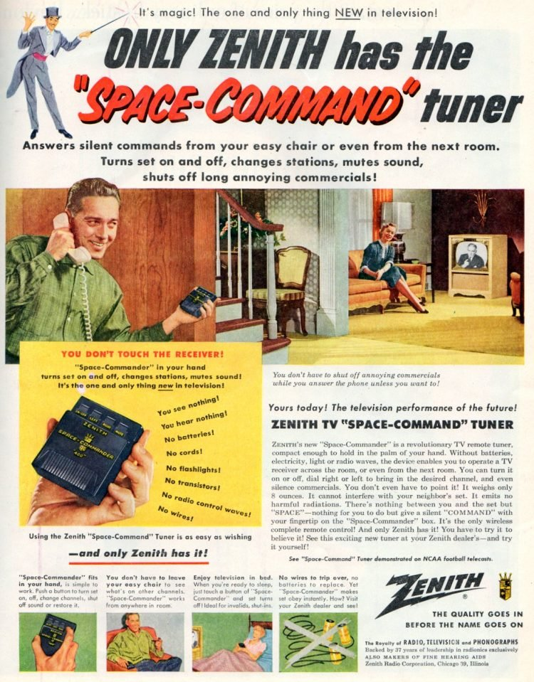 Vintage TV remote control - Zenith Space Command from 1956 (2)