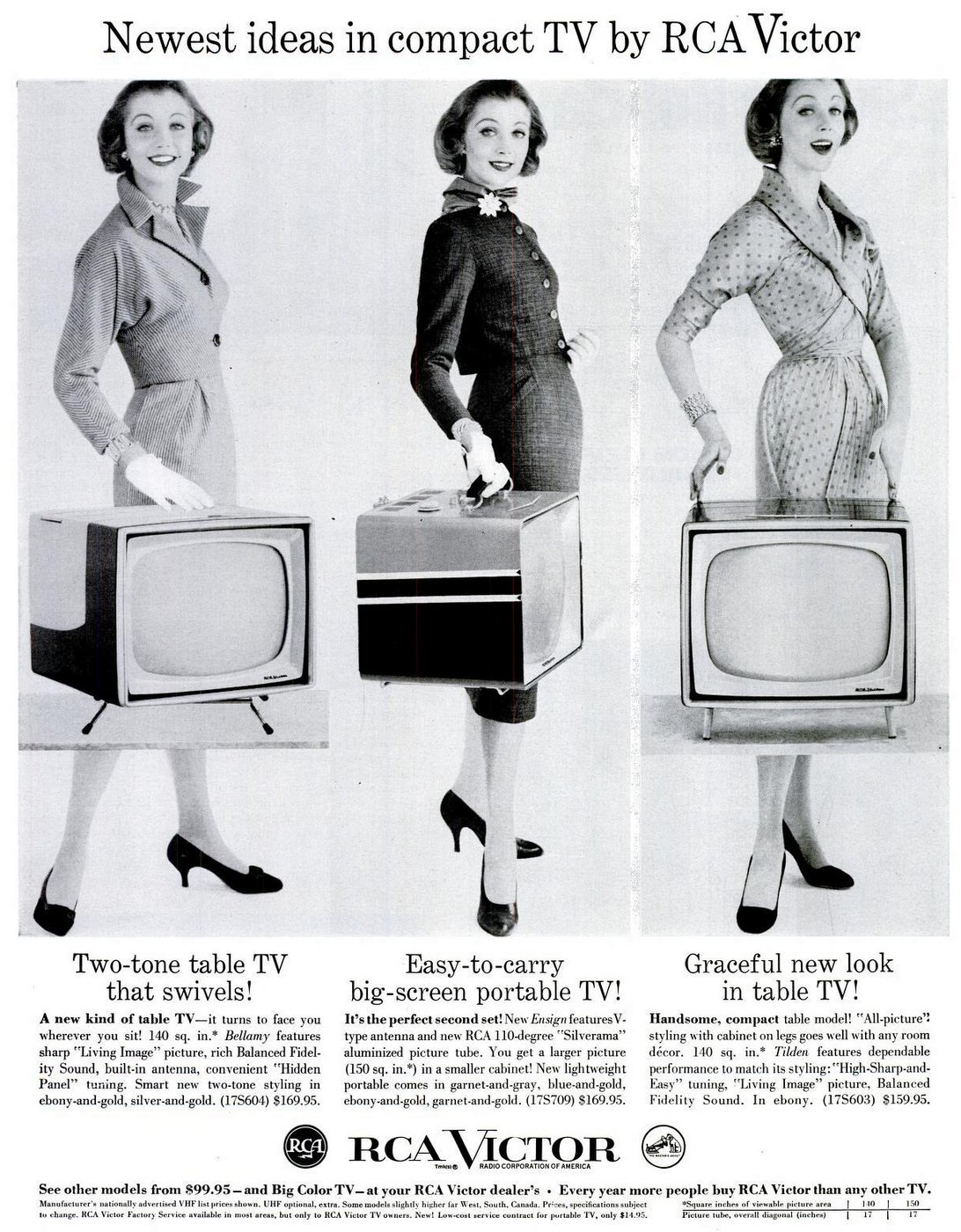 Vintage TV sets from the 50s - RCA Victor portable from 1957