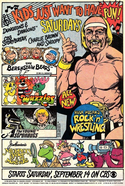 Vintage TV shows - Saturday morning cartoons from 1985